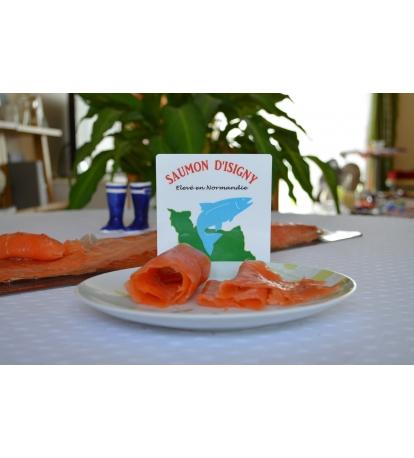 Filet de saumon d'Isigny fumé entier tranché